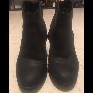 Black Steve Madden ankle boots